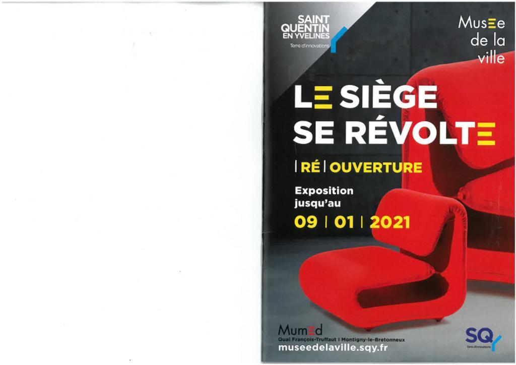 Le siège se révolte : Exposition jusqu'au 09/01/2021 / Frédéric Debussche |