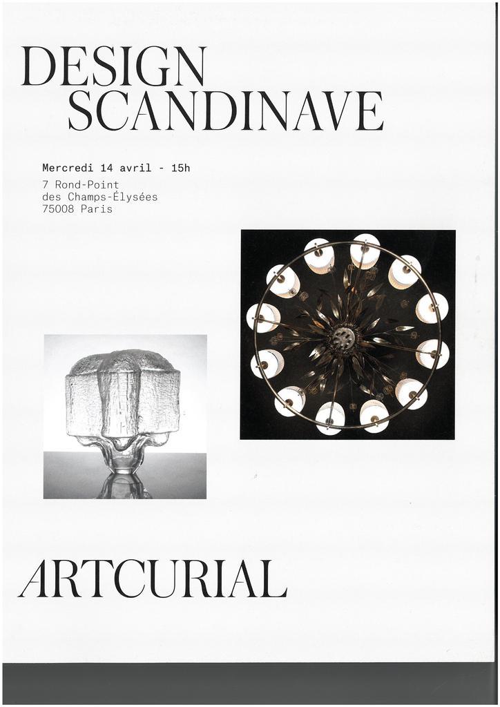 Design scandinave : vente du mercredi 14 avril 2021 / Poulain Hervé |